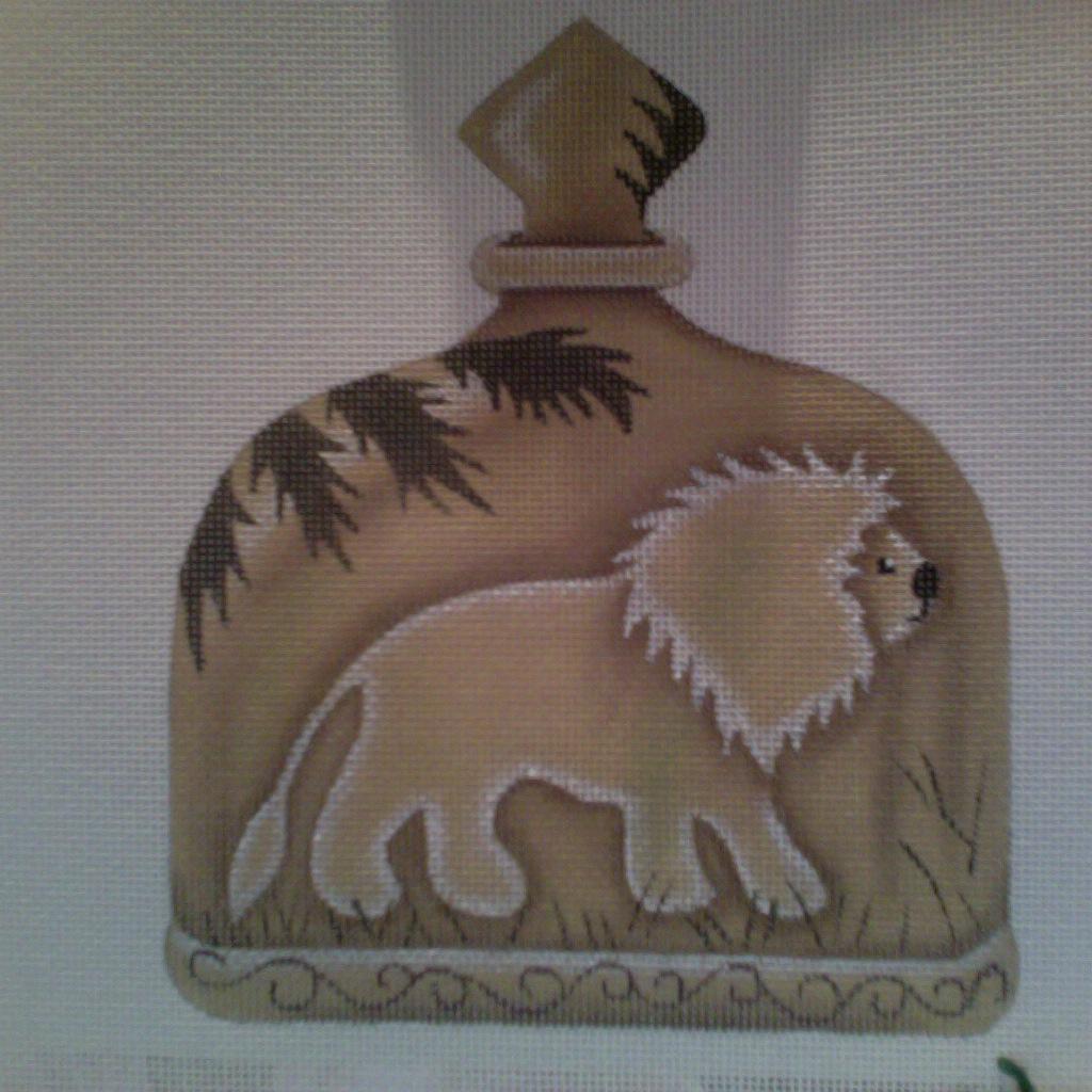 Canvas LION BOTTLE  A153 - SALE REG 44.00