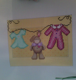 Canvas BABY GIRL LAUNDRY  1111