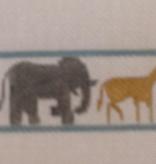 Canvas ANIMALS ON PARADE BELT  B246