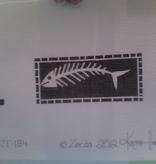 Canvas FISH BONES  ZE184