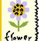 Canvas INK ICON  FLOWER  BF621