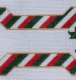 Canvas CHRISTMAS STRIPES BONE  ORNAMENT BP13