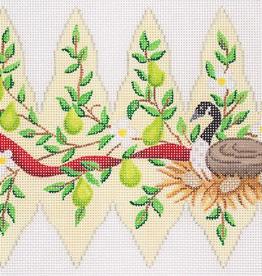 Canvas CHRISTMAS PEAR ORNAMENT DAY 6  XM99