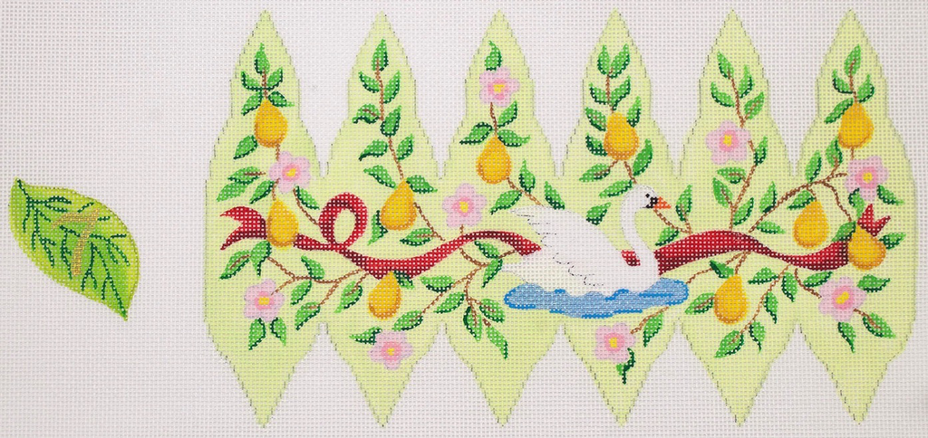 Canvas CHRISTMAS PEAR ORNAMENT DAY 7  XM100