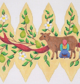 Canvas CHRISTMAS PEAR ORNAMENT DAY 8  XM101