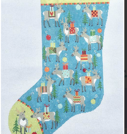 Canvas REINDEER STOCKING  PCH008