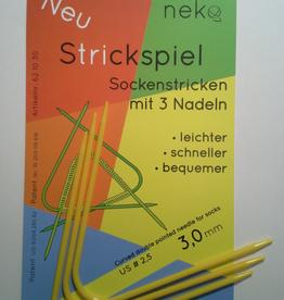 Needles NEKO CURVED DPN #2.5 hat length