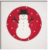 Canvas SIMPLE SNOWMAN RED SN18
