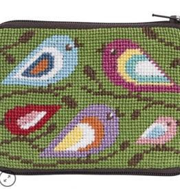 Canvas BIRDS OF COLOR COIN PURSE  SZ199