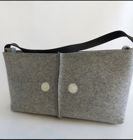Accessories VOGUE PURSE JULIAHILBRANDT INDUSTRIAL FELT TOTE WITH EYE DOTS