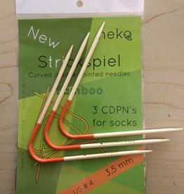 Needles NEKO CURVED BAMBOO DPN #2.5