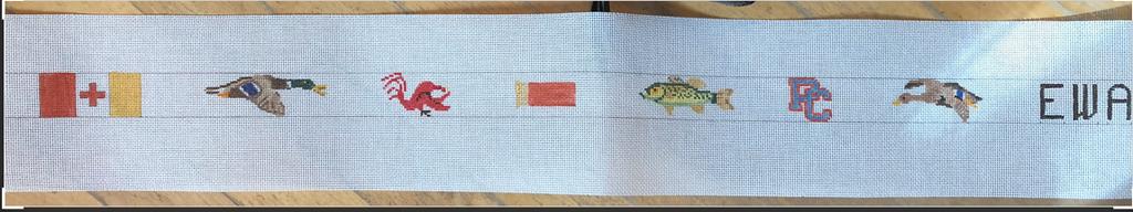 Canvas CUSTOM CANVAS - DUCK/FISH BELT
