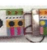Canvas SORRITY/FRATERNITY COLORS KEY FOB WITH HARDWARE - CAN ORDER ANY GREEK