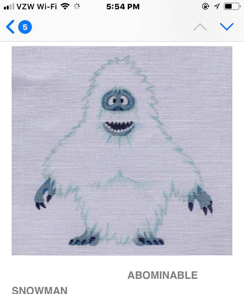 """Canvas ABOMINABLE SNOWMAN STANDING 8""""  HO1625"""