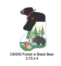 Canvas BEAR AND TREES WITH BLACK BEAR  CM300