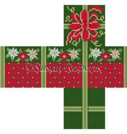 Canvas POINSETTA DIAMONDS CUBE BOX  5330-18
