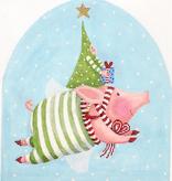 Canvas JOYFUL FLYING PIG  PBXST06