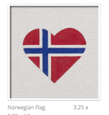 Canvas NOWEGIAN FLAG HEART  HT06
