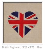 Canvas BRITISH FLAG HEART  HT14