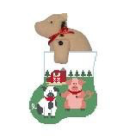Canvas PIG SOCK WITH PIG STUFFER  CM385