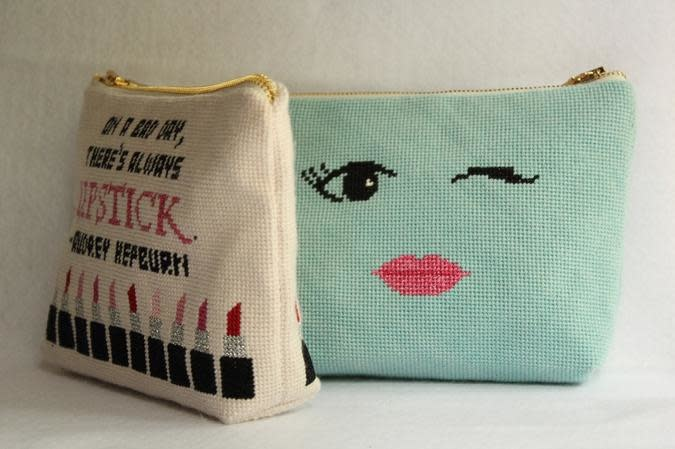 Canvas I WANT TO BE BARBIE COSMETICS BAG  MB16
