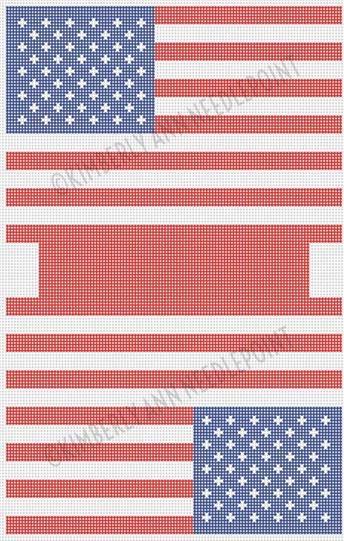 Canvas AMERICAN FLAG LARGE TOILETRIES6 BAG  15.5 X 20 MB SANDY