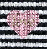 Canvas LOVE & STRIPES LEVEL 2 KIT  INCLUDES FIBERS, CANVAS AND GUIDE