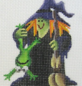 Canvas Witch and Frog  023g Rebecca Wood