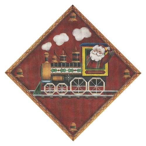 Canvas Christmas Train  521j Rebecca Wood
