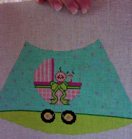 Canvas BABY GIRL IN CARRIAGE WITH NIGHT SHADE KIT  LS-14