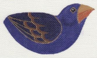 Canvas PURPLE FINCH CLIP-ON BIRD LL306I
