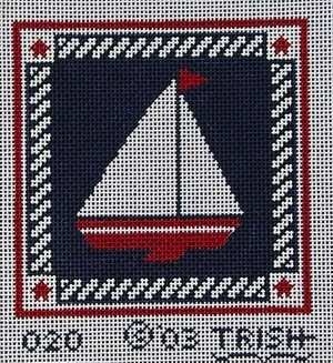 Canvas SAILBOAT AND ROPE 020