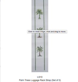 Canvas PALM TREE LUGGAGE STRAPS  LS10