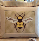 Canvas FLANGED BEE PILLOW FINISHING BY MARLENES