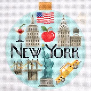 Canvas TRAVEL ROUND-  NEW YORK  KB1260