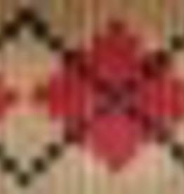 Canvas RED ARGYLE DOG COLLAR  634
