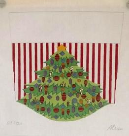 Canvas STOCKING CUFF TREE WITH SPARKLIES SCF124