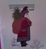 Canvas SANTA WITH BAG  244