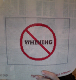 Canvas NO WHINING