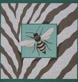 Canvas BEE & ZEBRA SKIN  B037