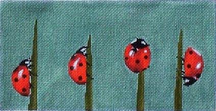 Canvas LADYBUGS ON TWIGS  A143