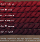 Fibers Silk and Ivory    BURGUNDY