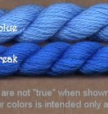 Fibers Silk and Ivory    BLUE STREAK