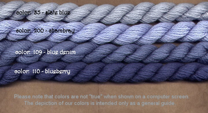 Fibers Silk and Ivory    BLUE DENIM