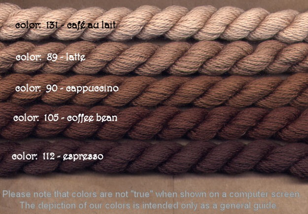 Fibers Silk and Ivory    CAFE AU LAIT
