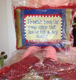 Canvas FUN PILLOW WITH RUBY SLIPPERS