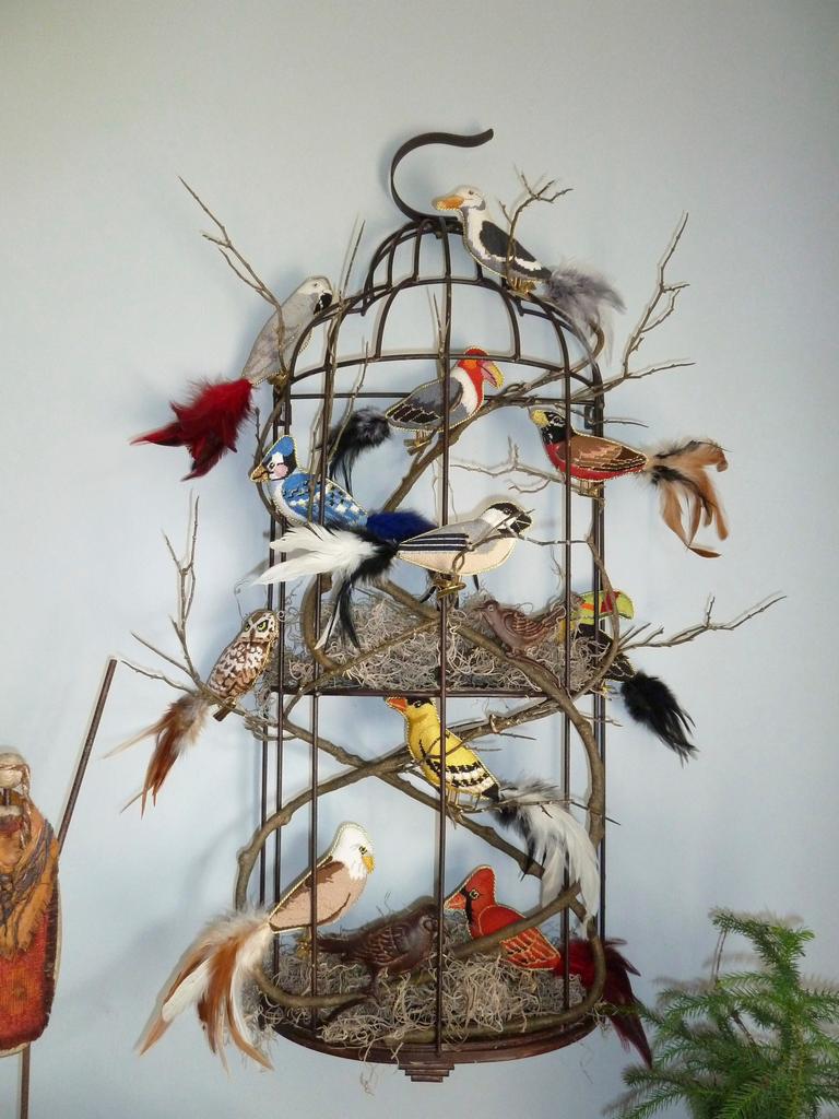 Canvas 3-D CLIP-ON BIRDS