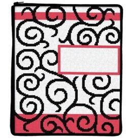 Canvas SCROLLS STITCH AND ZIP IPAD COVER SZ705