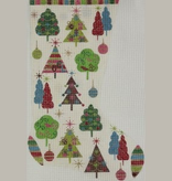 Canvas CHRISTMAS TREES STOCKING  2390