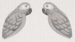 Canvas AFRICAN GRAY PARROT CLIP-ON BIRD  LL306H